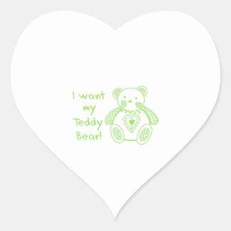 Mi oso de peluche calcomania de corazon