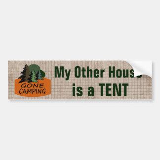 Mi otra casa es el acampar divertido de la tienda pegatina para coche