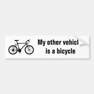 Mi otra pegatina para el parachoques de la bicicle pegatina para coche