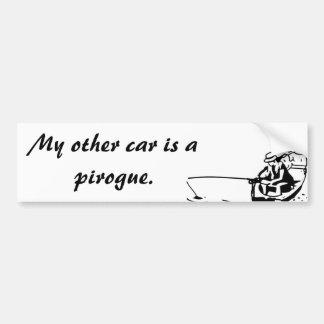 Mi otro coche es pegatina para el parachoques de
