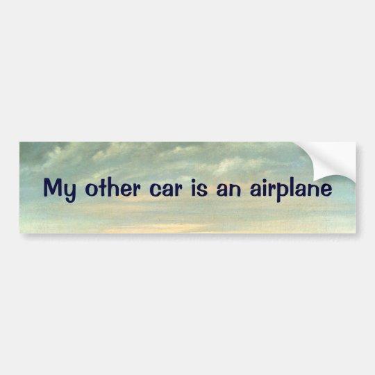 Mi otro coche es un aeroplano - pegatina para el