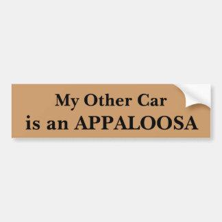 Mi otro coche es un Appaloosa Pegatina Para Coche