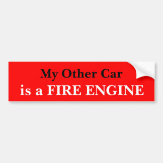 Mi otro coche es un coche de bomberos pegatina para coche