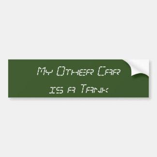 Mi otro coche es un tanque pegatina para coche