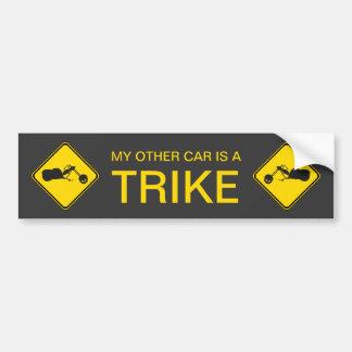 ¡Mi otro coche es un Trike! Pegatina Para Coche