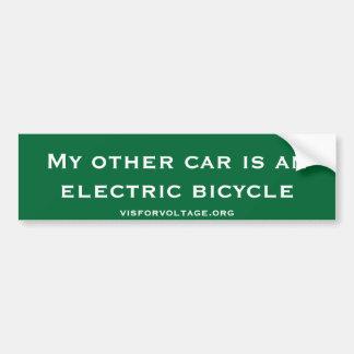 Mi otro coche es una bicicleta eléctrica pegatina para coche