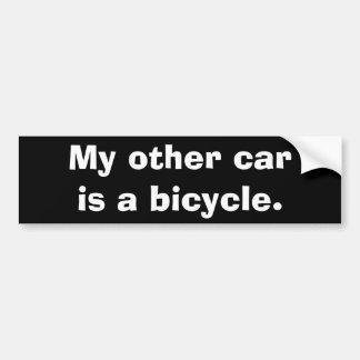 Mi otro coche es una bicicleta pegatina para coche