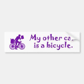 Mi otro coche es una bicicleta etiqueta de parachoque