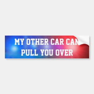 Mi otro coche puede tirar de usted encima pegatina para coche