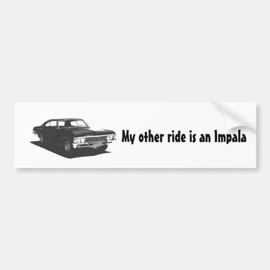 Mi otro paseo es un impala pegatina para coche
