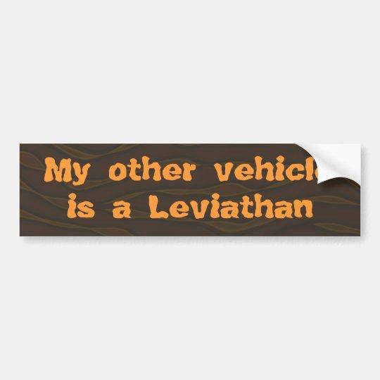 Mi otro vehículo es un leviatán pegatina para coche