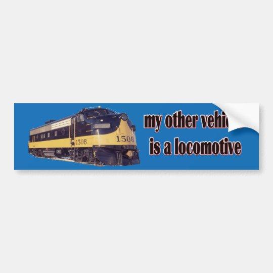 Mi otro vehículo es una locomotora ARR Pegatina Para Coche