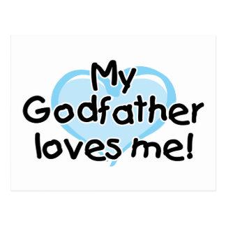 Mi padrino me ama (el azul) postal