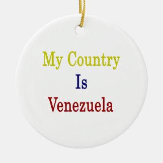 Mi país es Venezuela Ornamentos Para Reyes Magos