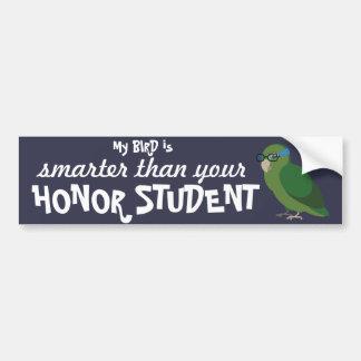 Mi pájaro es más elegante que su estudiante del pegatina para coche