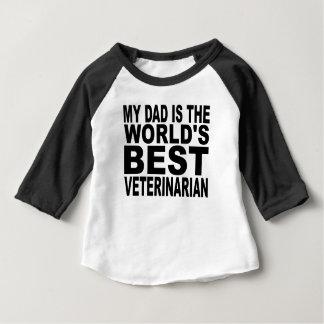 Mi papá es el mejor veterinario del mundo camisas