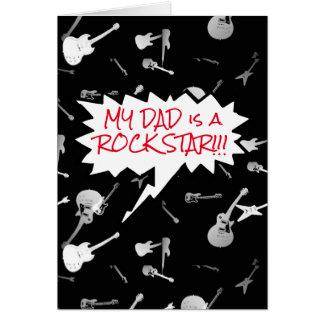 Mi papá es un interior de las guitarras de la tarjeta