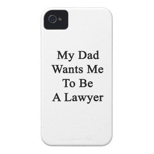 Mi papá quisiera que fuera abogado iPhone 4 Case-Mate protector