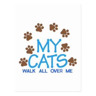 Mi paseo de gatos postal