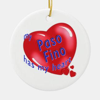 Mi Paso Fino tiene mi corazón Ornamento Para Arbol De Navidad