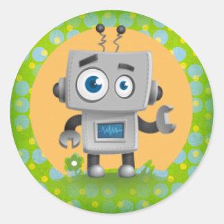 Mi pegatina del robot, brillante
