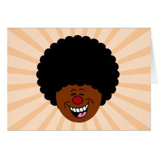 Mi pelo desafía la ley de la gravedad y de la tarjeta de felicitación
