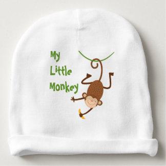 Mi pequeña gorrita tejida del mono gorrito para bebe