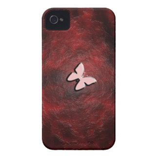 Mi pequeña mariposa roja Case-Mate iPhone 4 carcasas