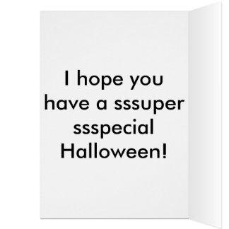 Mi pequeña tarjeta de Halloween del pitón