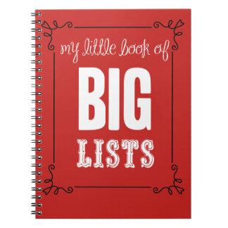 Mi pequeño libro de listas grandes cuaderno