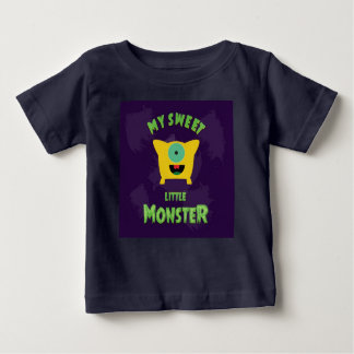 Mi pequeño monstruo dulce camiseta de bebé