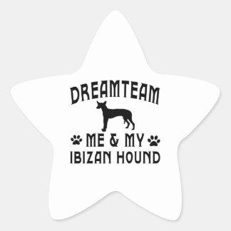 Mi perro de caza de Ibizan Calcomania Forma De Estrella Personalizadas