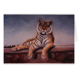 """""""Mi pintura original del tigre"""" - de Lisa Buchanan Tarjeta De Felicitación"""