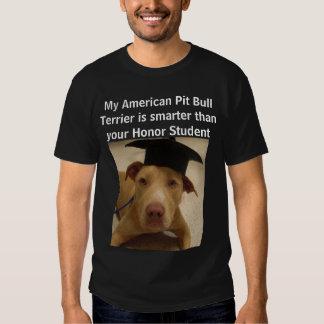 Mi pitbull Terrier americano es más elegante que Camisetas