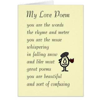 Mi poema del amor tarjeta de felicitación