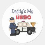 Mi policía del héroe del papá etiqueta