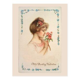 Mi postal querida del vintage de la tarjeta del