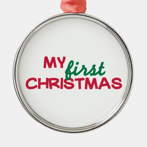 Mi primer 1r navidad ornamento para arbol de navidad