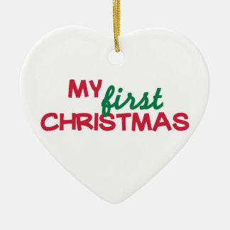 Mi primer 1r navidad ornaments para arbol de navidad