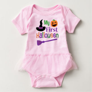 Mi primer mono del tutú del bebé de Halloween Body Para Bebé