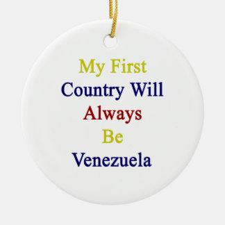 Mi primer país será siempre Venezuela Ornamento De Reyes Magos