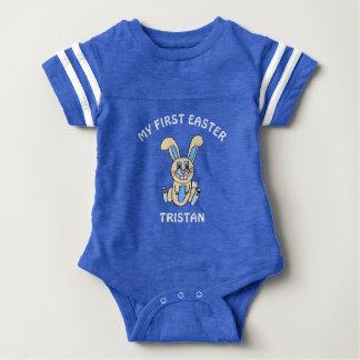 Mi primera camisa azul del bebé del conejito de