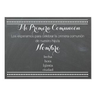 MI Primera Comunión - invitación del diseño de la
