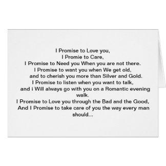 Mi promesa a usted tarjeta de felicitación