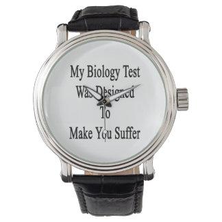 Mi prueba de la biología fue diseñada para hacer reloj