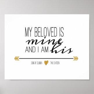 Mi querido es el mío, escritura póster