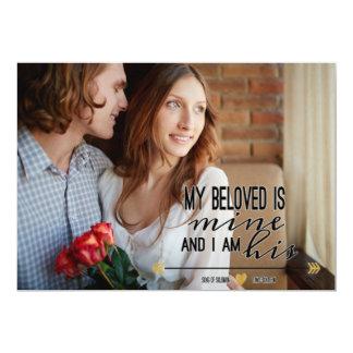 Mi querido es el mío, foto del compromiso de la invitación 12,7 x 17,8 cm