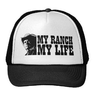 Mi rancho mi vida, regalo para un granjero o ranch gorros bordados