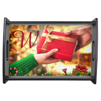 """""""My Gift to You"""" - Small Serving Tray Black"""
