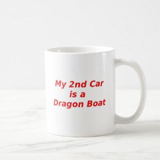 Mi segundo coche es un barco del dragón taza clásica